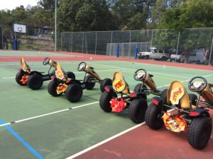 With Flames these chariots will race around our Go Kart Raceway