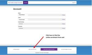Enrolment ScreenShot
